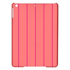 Background Image Vertical Lines And Stripes Seamless Tileable Deep Pink Salmon Ipad Air Hardshell Cases