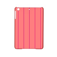 Background Image Vertical Lines And Stripes Seamless Tileable Deep Pink Salmon Ipad Mini 2 Hardshell Cases