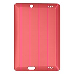 Background Image Vertical Lines And Stripes Seamless Tileable Deep Pink Salmon Amazon Kindle Fire Hd (2013) Hardshell Case