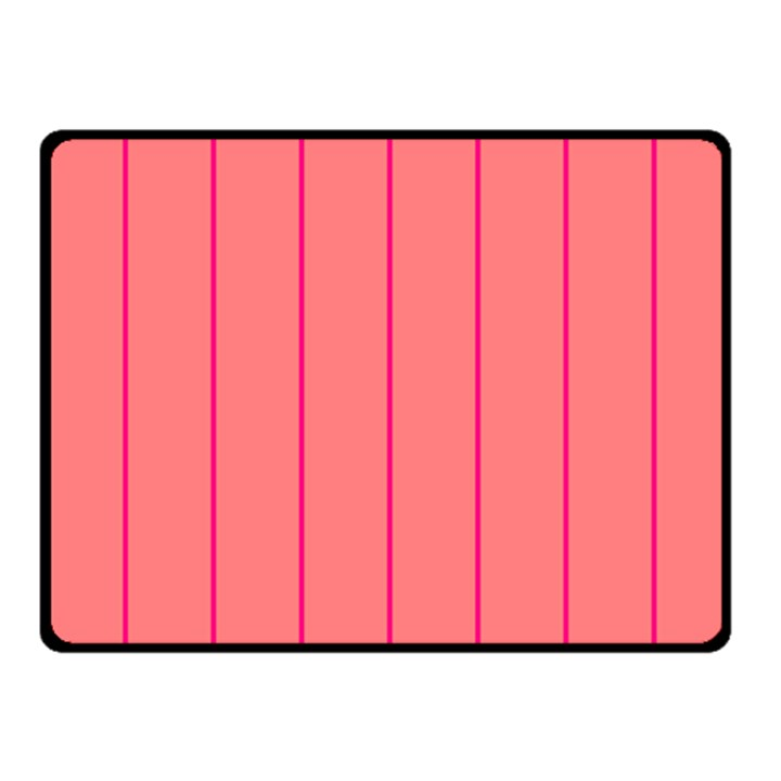 Background Image Vertical Lines And Stripes Seamless Tileable Deep Pink Salmon Double Sided Fleece Blanket (Small)