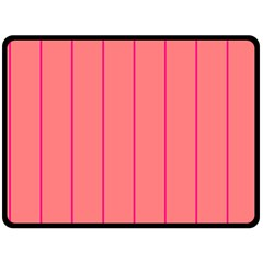 Background Image Vertical Lines And Stripes Seamless Tileable Deep Pink Salmon Double Sided Fleece Blanket (large)