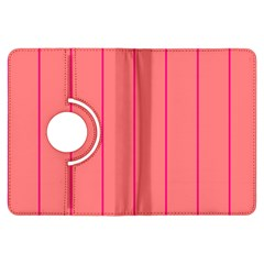 Background Image Vertical Lines And Stripes Seamless Tileable Deep Pink Salmon Kindle Fire Hdx Flip 360 Case