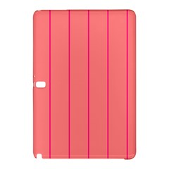 Background Image Vertical Lines And Stripes Seamless Tileable Deep Pink Salmon Samsung Galaxy Tab Pro 10 1 Hardshell Case