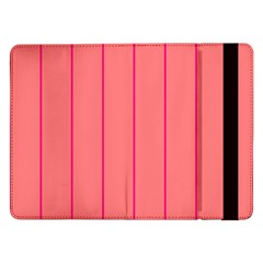 Background Image Vertical Lines And Stripes Seamless Tileable Deep Pink Salmon Samsung Galaxy Tab Pro 12 2  Flip Case