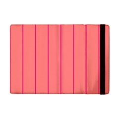 Background Image Vertical Lines And Stripes Seamless Tileable Deep Pink Salmon Ipad Mini 2 Flip Cases