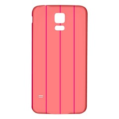 Background Image Vertical Lines And Stripes Seamless Tileable Deep Pink Salmon Samsung Galaxy S5 Back Case (white)