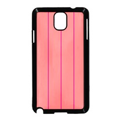 Background Image Vertical Lines And Stripes Seamless Tileable Deep Pink Salmon Samsung Galaxy Note 3 Neo Hardshell Case (black)