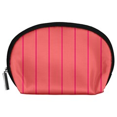 Background Image Vertical Lines And Stripes Seamless Tileable Deep Pink Salmon Accessory Pouches (large)