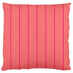 Background Image Vertical Lines And Stripes Seamless Tileable Deep Pink Salmon Large Flano Cushion Case (one Side)