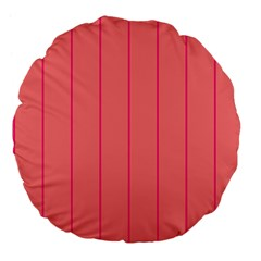Background Image Vertical Lines And Stripes Seamless Tileable Deep Pink Salmon Large 18  Premium Flano Round Cushions