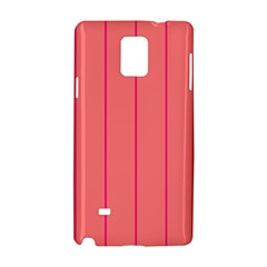 Background Image Vertical Lines And Stripes Seamless Tileable Deep Pink Salmon Samsung Galaxy Note 4 Hardshell Case