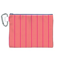 Background Image Vertical Lines And Stripes Seamless Tileable Deep Pink Salmon Canvas Cosmetic Bag (xl)