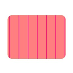 Background Image Vertical Lines And Stripes Seamless Tileable Deep Pink Salmon Double Sided Flano Blanket (mini)
