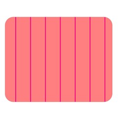 Background Image Vertical Lines And Stripes Seamless Tileable Deep Pink Salmon Double Sided Flano Blanket (large)