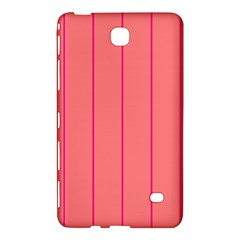 Background Image Vertical Lines And Stripes Seamless Tileable Deep Pink Salmon Samsung Galaxy Tab 4 (7 ) Hardshell Case