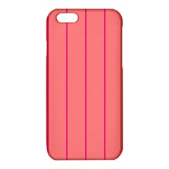 Background Image Vertical Lines And Stripes Seamless Tileable Deep Pink Salmon iPhone 6/6S TPU Case