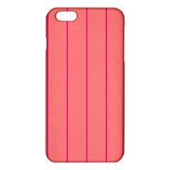 Background Image Vertical Lines And Stripes Seamless Tileable Deep Pink Salmon iPhone 6 Plus/6S Plus TPU Case