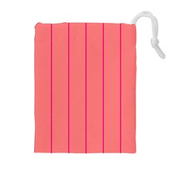 Background Image Vertical Lines And Stripes Seamless Tileable Deep Pink Salmon Drawstring Pouches (extra Large)