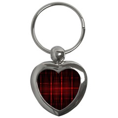 Black And Red Backgrounds Key Chains (heart)