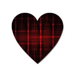 Black And Red Backgrounds Heart Magnet