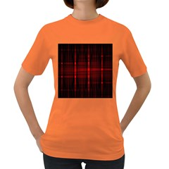 Black And Red Backgrounds Women s Dark T Shirt