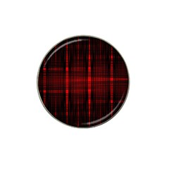 Black And Red Backgrounds Hat Clip Ball Marker (10 Pack)