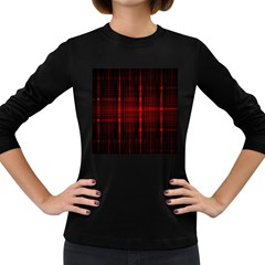 Black And Red Backgrounds Women s Long Sleeve Dark T Shirts