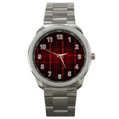 Black And Red Backgrounds Sport Metal Watch