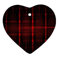 Black And Red Backgrounds Heart Ornament (two Sides)