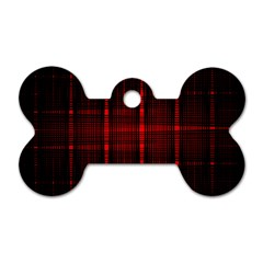 Black And Red Backgrounds Dog Tag Bone (two Sides)
