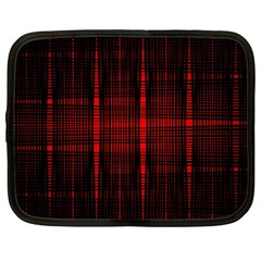 Black And Red Backgrounds Netbook Case (large)