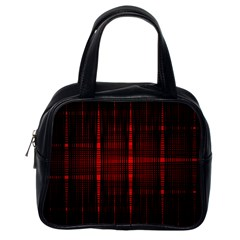 Black And Red Backgrounds Classic Handbags (one Side)