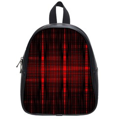 Black And Red Backgrounds School Bags (small)