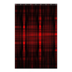 Black And Red Backgrounds Shower Curtain 48  X 72  (small)