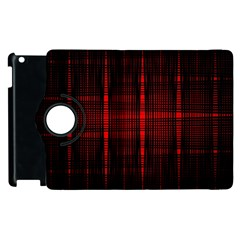 Black And Red Backgrounds Apple Ipad 2 Flip 360 Case