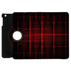Black And Red Backgrounds Apple Ipad Mini Flip 360 Case