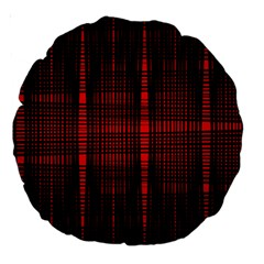 Black And Red Backgrounds Large 18  Premium Round Cushions