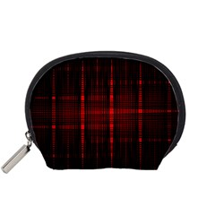 Black And Red Backgrounds Accessory Pouches (small)