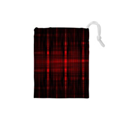 Black And Red Backgrounds Drawstring Pouches (small)