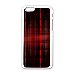 Black And Red Backgrounds Apple Iphone 6/6s White Enamel Case