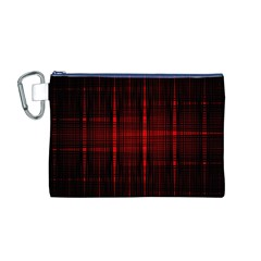 Black And Red Backgrounds Canvas Cosmetic Bag (m)
