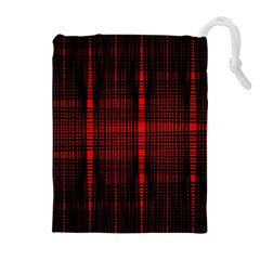 Black And Red Backgrounds Drawstring Pouches (extra Large)
