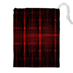 Black And Red Backgrounds Drawstring Pouches (xxl)