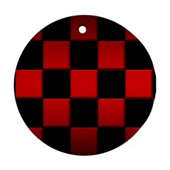 Black And Red Backgrounds Ornament (round)