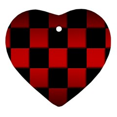 Black And Red Backgrounds Ornament (heart)