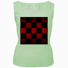 Black And Red Backgrounds Women s Green Tank Top