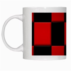 Black And Red Backgrounds White Mugs