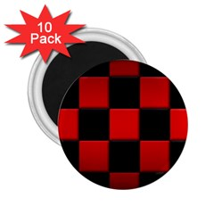 Black And Red Backgrounds 2 25  Magnets (10 Pack)