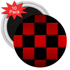 Black And Red Backgrounds 3  Magnets (10 Pack)