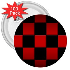 Black And Red Backgrounds 3  Buttons (100 Pack)